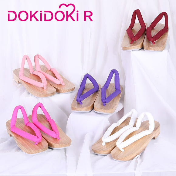 DokiDoki-R Demon Slayer: Kimetsu no Yaiba Cosplay Shoes Nezuko Tanjirou Kochou Shinobu Japanese Clogs