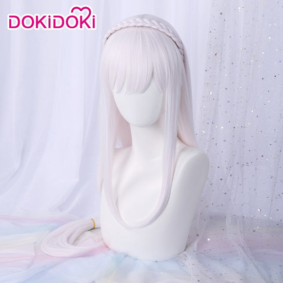 DokiDoki Anime Re Zero Emilia Cosplay Wig Women Long White Re: Starting life in a different world from zero