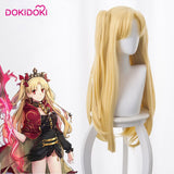 DokiDoki Game Cosplay Wig Fate/Grand Order Cosplay Wig Ereshkigal Women Long Blonde Straight Heat Resistant Hair