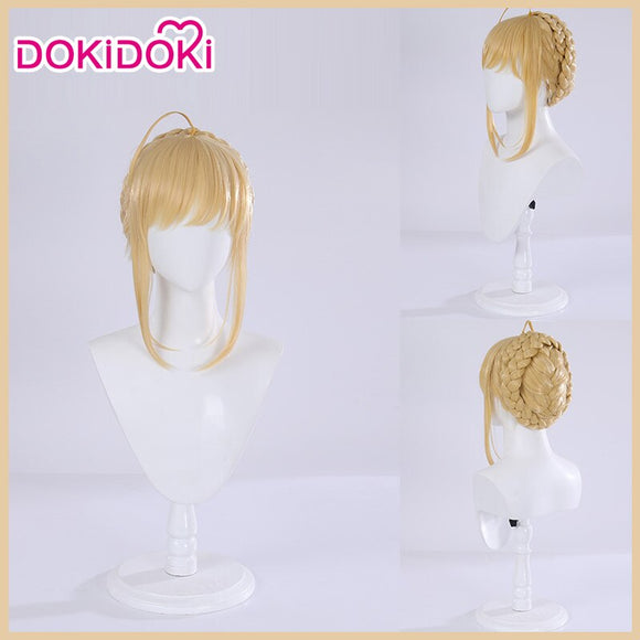 DokiDoki Game Fate Grand Order Lancer Artoria Pendragon Cosplay Wig Maid Ver