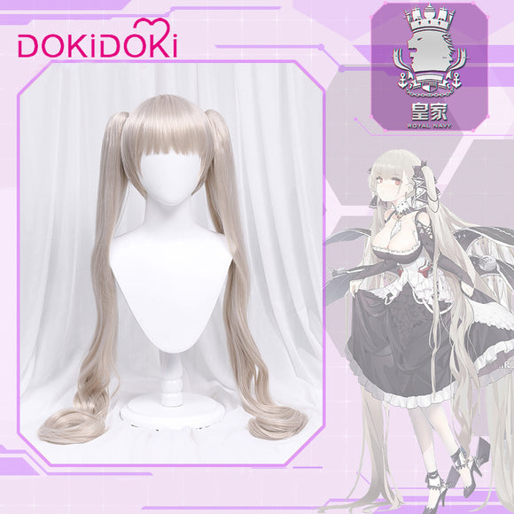 DokiDoki-R Azur Lane Formidable Cosplay Wig Women Lony Ponytail Hair