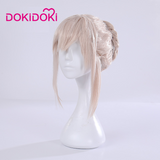 DokiDoki-R Game Fate/stay night Cosplay  Arturia Pendragon Alter Saber Cosplay & Wig Maid Costume FGO