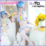 DokiDoki-R Anime Re Life in a different world from zero Cosplay Rem Swimsuit Marine Ver