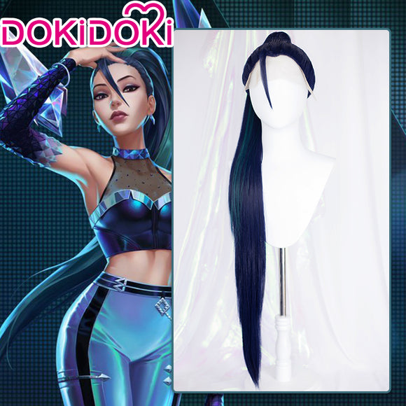 【Ready For Ship】DokiDoki Game League of Legends Cosplay KDA Kaisa Front Lace Wig