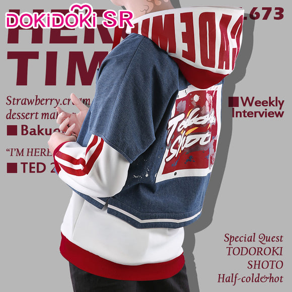 DokiDoki-SR Anime  My Hero Academia Cosplay Boku No Hero Academia Todoroki Shoto Doujin Costume Men Cosplay Costume Todoroki Shoto