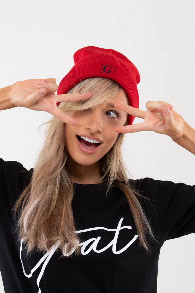 Red GOAT Classic Beanie
