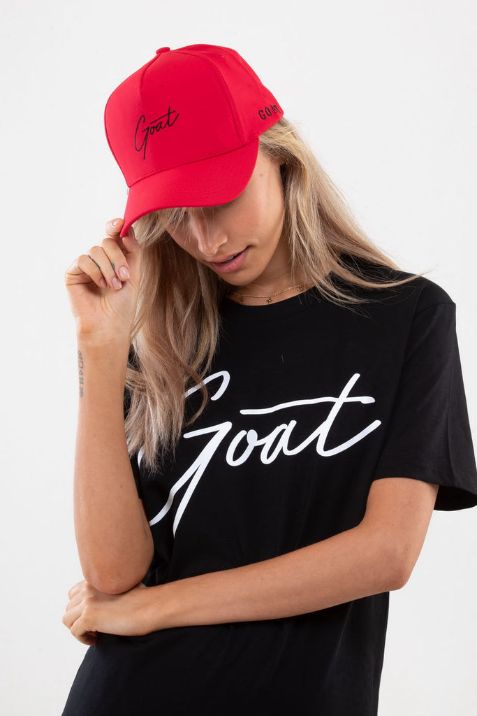 Red GOAT Signature Cap