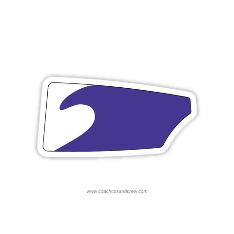 Ann Arbor Pioneer Purple HS Oar Sticker (MI)