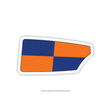 Clemson Univ Rowing Association Oar Sticker (SC)
