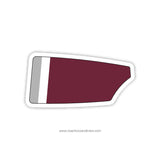 Nutley High School Crew Oar Sticker (NJ)