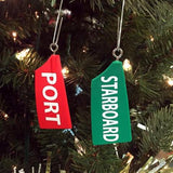 Port & Starboard Rowing Blade Ornaments