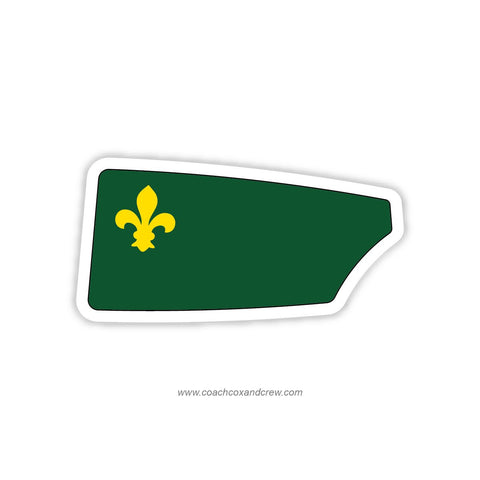 Tulane University Rowing Oar Sticker (LA)
