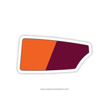Wayland Weston Rowing Association Oar Sticker (MA)