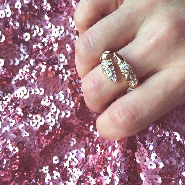 Crystal the Snake Ring, , Rings, Chic & Shine, Chic & Shine  - 2