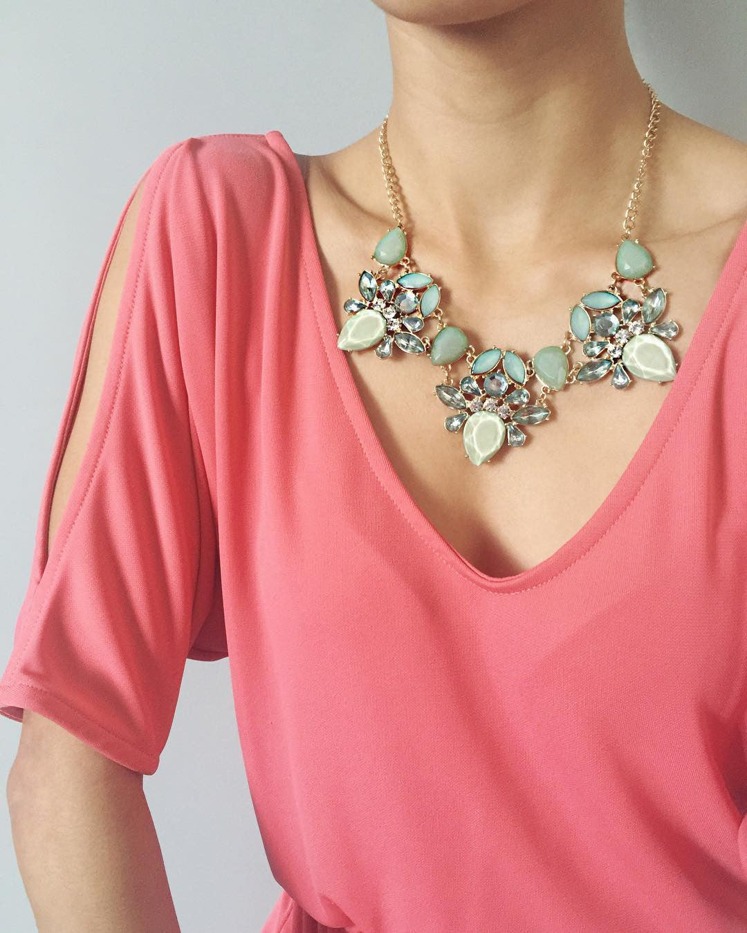 Alluring Turquoise Necklace, , Necklaces, Chic & Shine, Chic & Shine  - 2