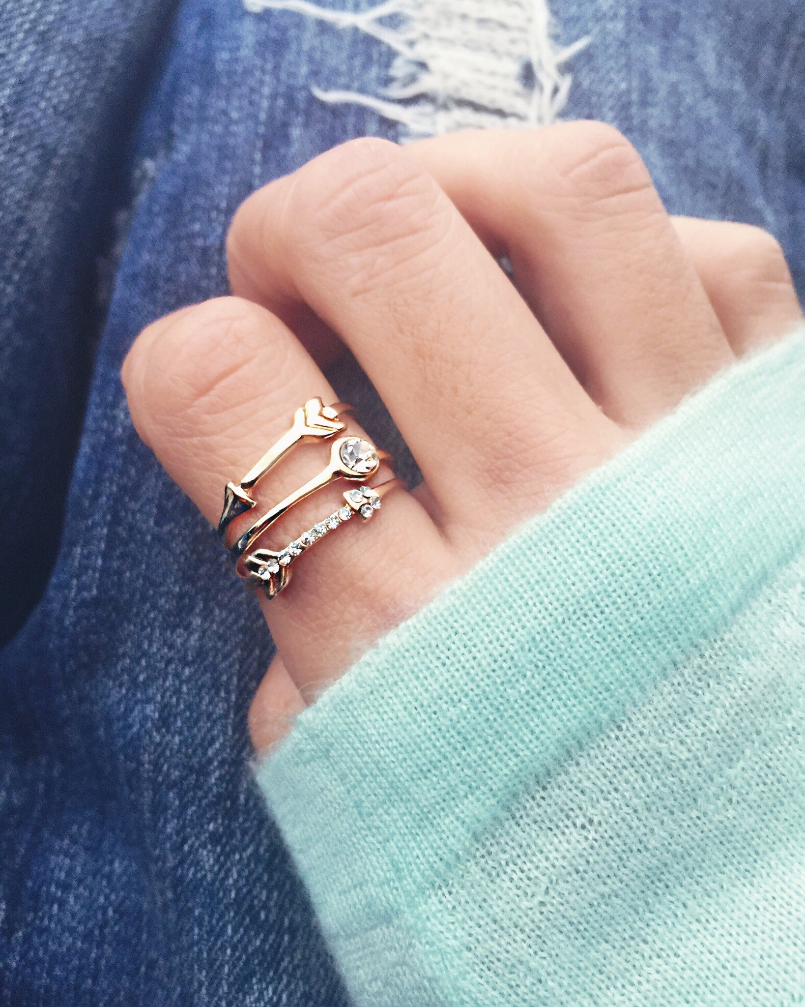 Arrow Ring Set, , Rings, Chic & Shine, Chic & Shine  - 2