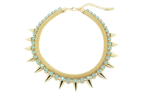 Baby Turq Spiker Necklace, , Necklaces, Chic & Shine, Chic & Shine  - 1