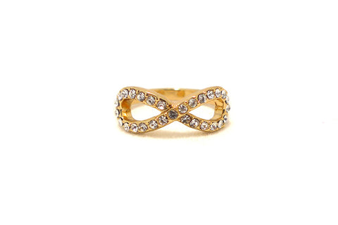 Crystal Infinity Ring, , Rings, Chic & Shine, Chic & Shine  - 1