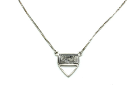 Stoned Beautiful Silver Necklace, , Necklaces, Chic & Shine, Chic & Shine  - 1