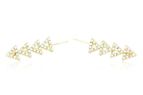 Tri Stacked Ear Crawlers, , Earrings, Chic & Shine, Chic & Shine  - 1