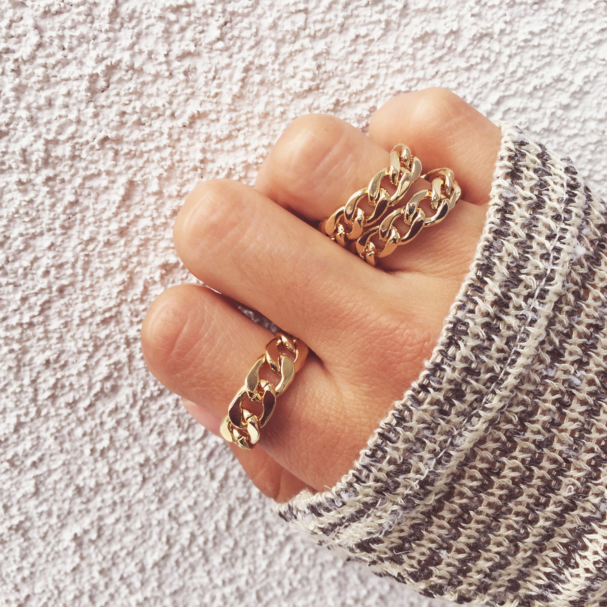 Chain Ring, , Rings, Chic & Shine, Chic & Shine  - 2