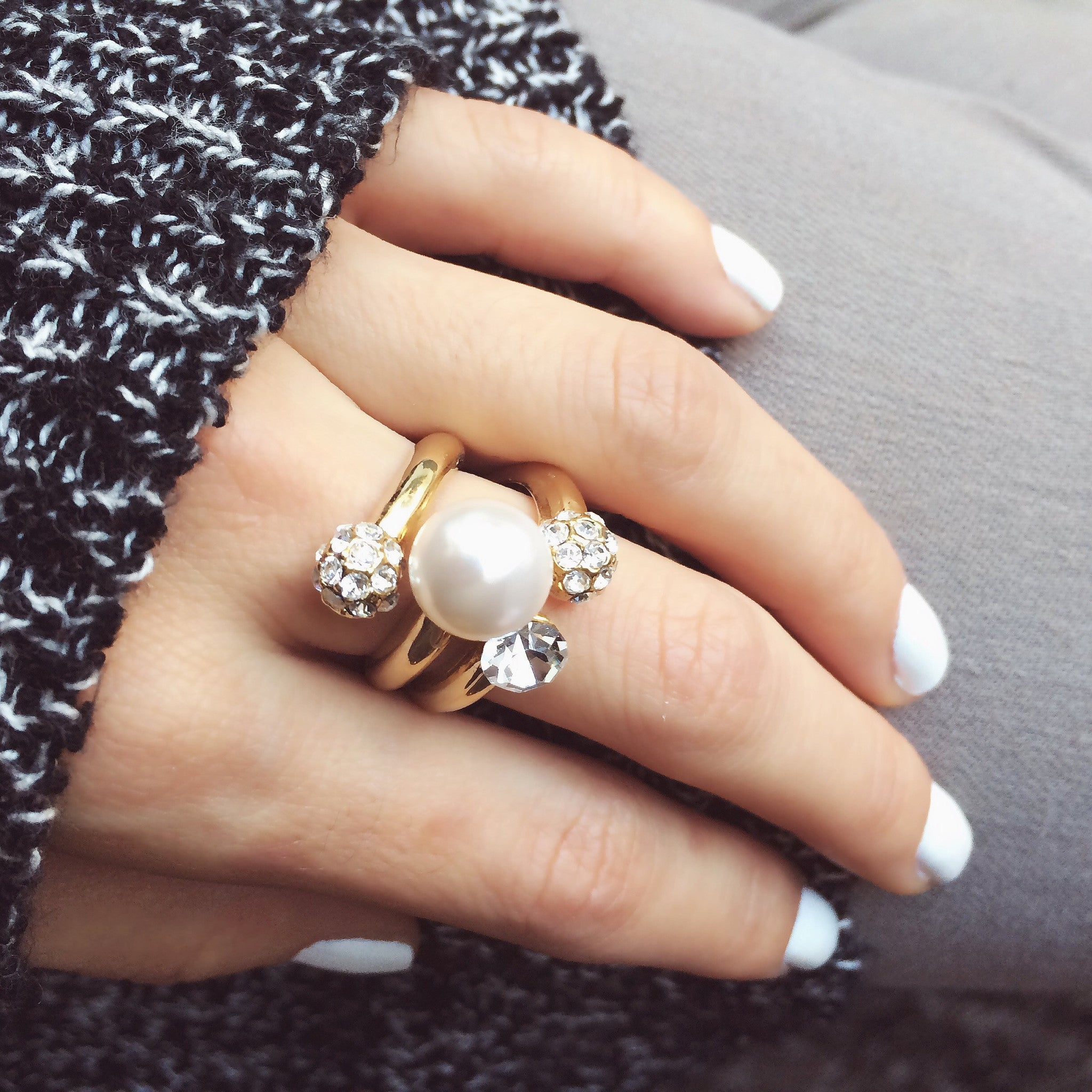 Pearl Party Ring, , Rings, Chic & Shine, Chic & Shine  - 2