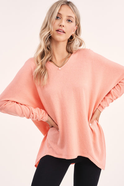 The Cami Coral Sweater