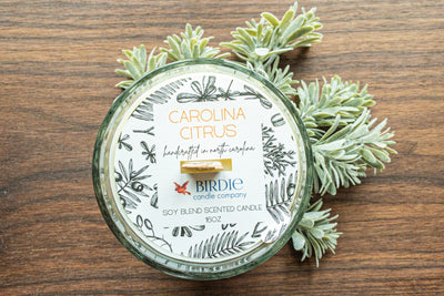 Carolina Citrus Wooden Wick Candle