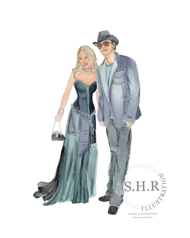 Britney and Justin in Denim Art Print