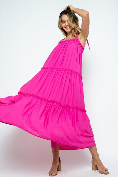 Chic in Pink Maxi Dress