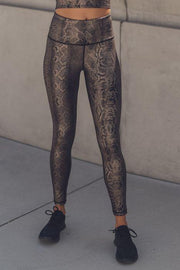 Copperhead Shimmer Foil Print Highwaist Leggings