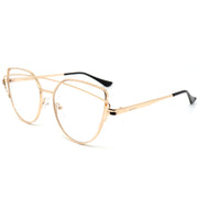 gold aviator side view blue light glasses