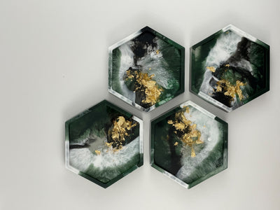 Hexagon Resin Coasters
