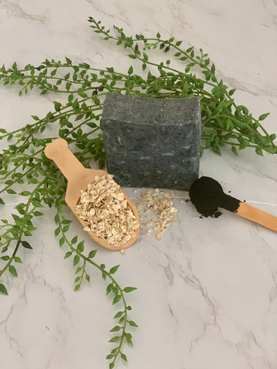 Hand Crafted Soap - Activated Charcoal with Oatmeal and Honey