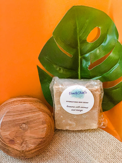 Hand Crafted Soap - Turmeric with Coconut Milk & Orange Essential oil