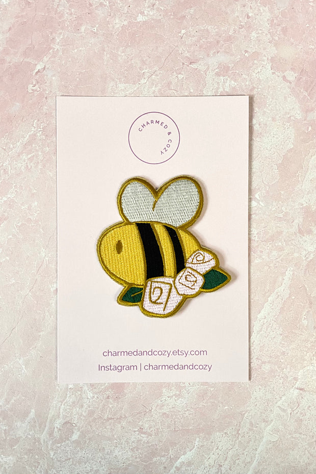 Cute Bee Embroidered Iron on Patch