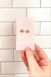 Rose Gold Bee Earrings