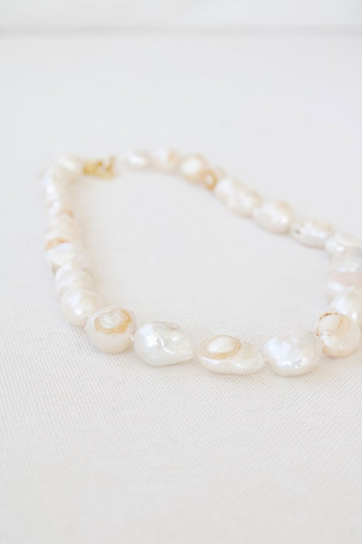 Large Pearl Hand Knotted Necklace