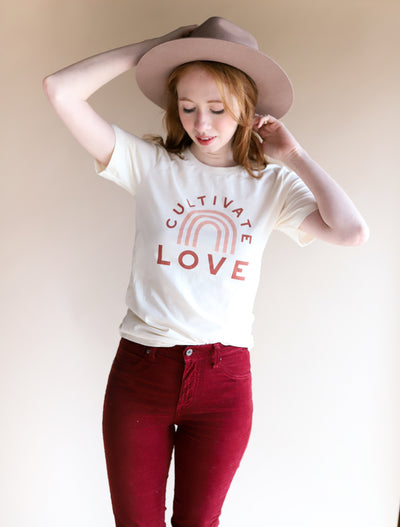 """Cultivate Love"" Adult Unisex T-Shirt"