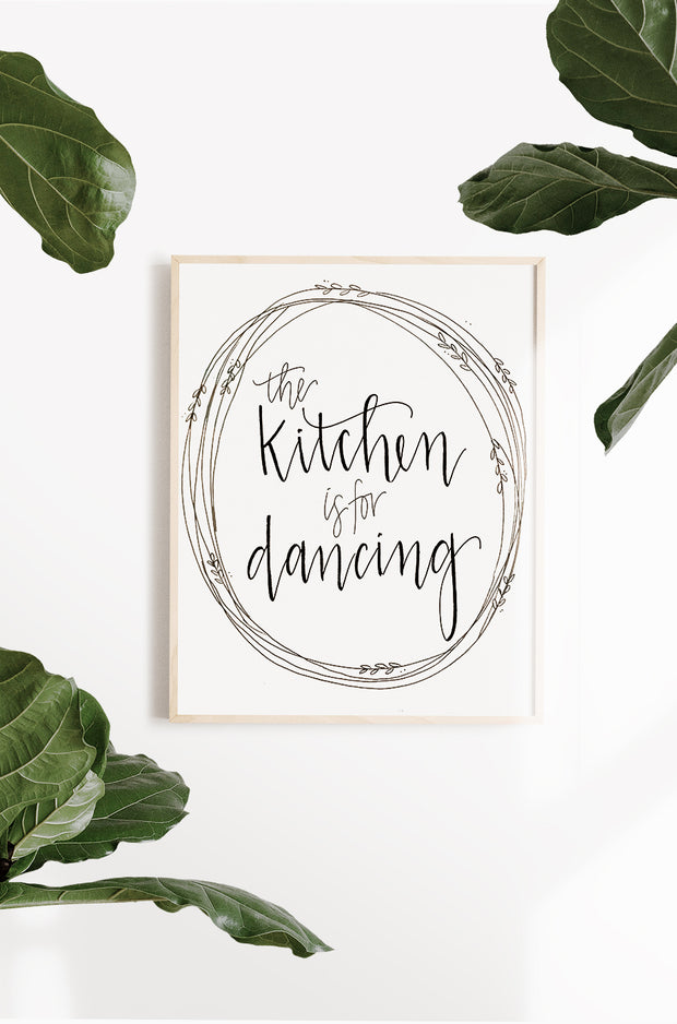 """Kitchen is for Dancing"" Art Print"