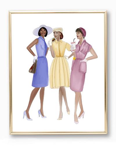 Ladies Who Lunch Art Print