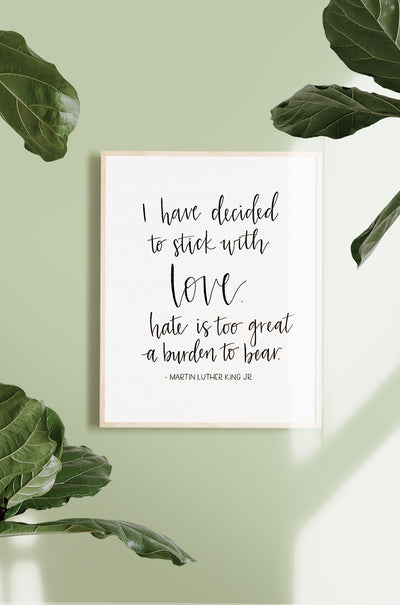 """Stick with Love"" Art Print"