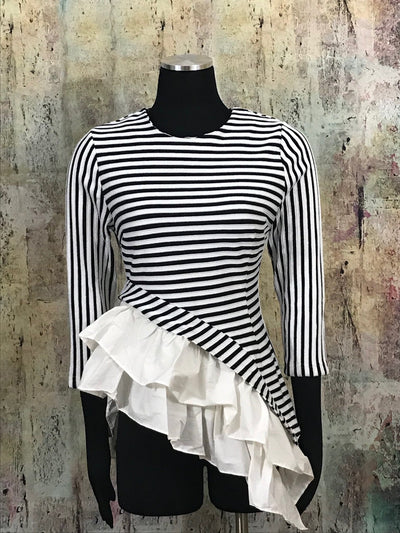 Stripe Ruffle Sweater