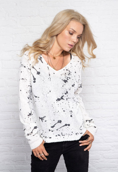 Splatter V Sweater