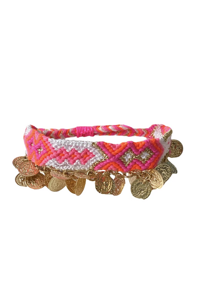Friendship Bracelet with Coins