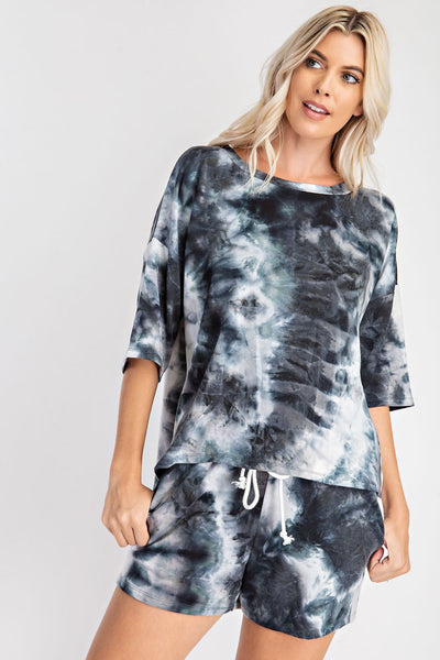 Tiffany Drop Shoulder Tie Dye Tee