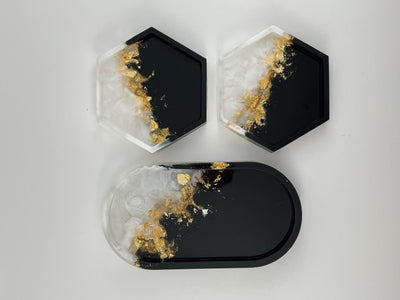 Trinket Tray and Coaster Set