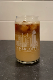 Charlotte Skyline Can Glass
