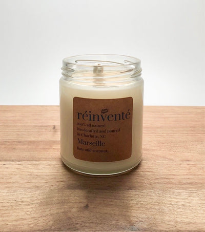 MARSEILLE (Coconut Lime Verbena) - Hand Poured Soy Candle