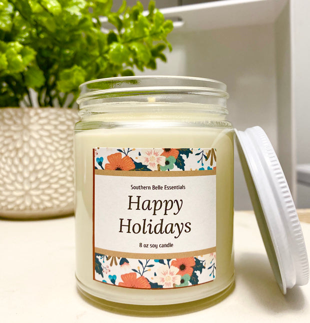 HAPPY HOLIDAYS - FALL VEGAN CANDLE